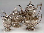 Silver tea service made in India, 1896 - 1906