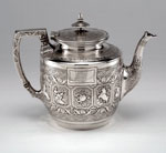 Silver milk jug made in Glasgow, 1873-74