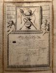 Diploma of the Cape Club of Edinburgh, 18th century