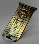 Brass wall sconce entitled `Night`, made in Glasgow