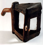 Wooden lantern used by Grizel Baillie