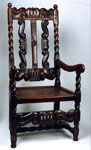 Armchair of carved oak