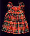 Tartan dress for a small boy