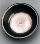 Baptismal bowl of pewter