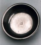 Baptismal bowl of pewter