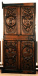 Door of carved oak