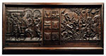 Framed panel of carved oak