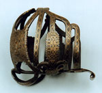 Sword hilt inlaid with brass