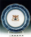 Porcelain plate with the arms of Baron George Elphinstone