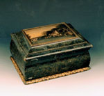 Work box, with view of Robert Burns's home at Mossgeil, Ayrshire
