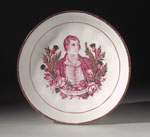 Saucer with a portrait of Robert Burns