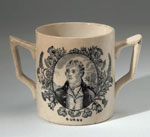 Loving cup depicting Robert Burns