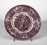 Earthenware soup plate