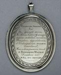 Silver medal (reverse) of Benjamin Mackay's Latin Academy, Edinburgh