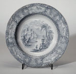 Soup plate, made in Glasgow