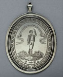 Silver medal (obverse) of Benjamin Mackay's Latin Academy, Edinburgh