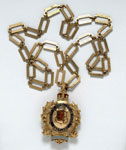 Badge and chain of the President of the Society of Inspectors of the Poor in Scotland