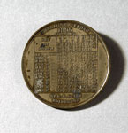 Advertising token (reverse), of Waverley Electric Works, Portobello, Edinburgh