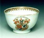 Porcelain cup painted with the arms of Logan of Restalrig