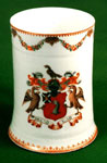 Porcelain heraldic tankard