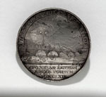 Medal (obverse), commemorating laying of foundation stone of North Bridge, Edinburgh