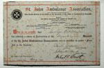 Certificate of St John's Ambulance Association
