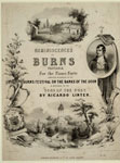 Sheet music cover for 'Reminiscences of Burns'