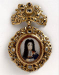 Gold pendant with a miniature of Charles II