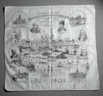 Souvenir handkerchief from the Glasgow International Exhibition