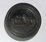Medal (obverse) commemorating the International Exhibition of Industry, Science and Art