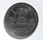 Medal (reverse) commemorating the International Exhibition of Industry, Science and Art