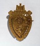 Gold badge of the Edinburgh International Exhibition