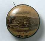 Pin cushion with a view of Dunoon