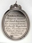 Silver medal (obverse) of Canongate High School, Edinburgh