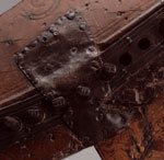 Detail of a clarsach associated with Mary, Queen of Scots