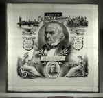 Silk handkerchief with a portrait of Gladstone
