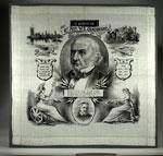 Silk handkerchief with a portrait of Gladstone