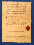 Travel pass issued by the Duke of Cumberland