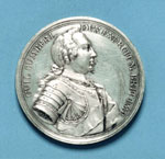 Silver medal (obverse) commemorating the Battle of Culloden