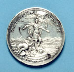 Silver medal (reverse) commemorating the Battle of Culloden