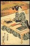 Colour woodblock print, ukiyo-e (detail)