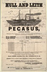 Advertisement, for sailing steamer Pegasus