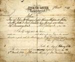 Birth registration and certificate of baptism of John McKenzie