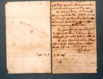 Letter written by David Hume