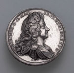 Medal (obverse), commemorating the Act of Grace of 1717