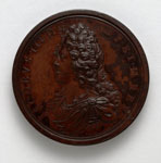 Bronze medal (obverse) of James VIII, the Old Pretender