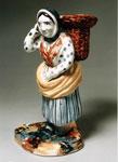 Earthenware figure of a fishwife
