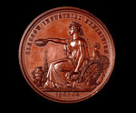 Bronze medal (obverse) of the Glasgow International Exhibition, 1865-66