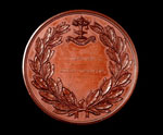Bronze medal (reverse) of the Glasgow International Exhibition, 1865-66