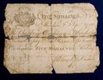 Five-shilling banknote